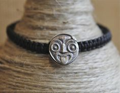 This sterling silver Tiki face bracelet is a work of art. Handcrafted in sterling silver by our very own friend and jeweller, a local Kiwi bloke with undeniable skills. This face has such great expression and sits beautiful on the wrist. As the proud owner of the only other matching Tiki face, I can say this is among my favorite pieces and brings me joy every time I look down at it! $79 + shipping