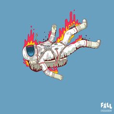 Bülent Gültek #Fallproject #Astronot #illustration