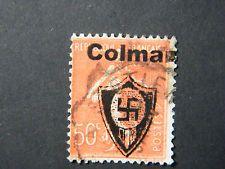Local Frankreich WW II Occupation overprint Colmar used