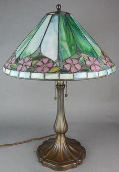 Antique Unique Leaded Lamp Handel Base Circa 1920 #ArtDeco #Handel