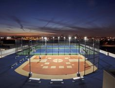Sky View Parc in Flushing has an outdoor roof recreation area that overlooks Citi Field.