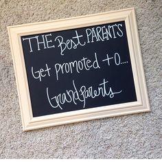 Grandparent sign for pregnancy announcement chalkboard sign www.etsy.com/shop/charmingchalk