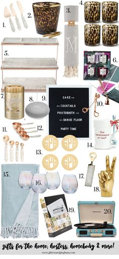 holiday gifts for the home, hostess and MORE - Glitter & Gingham
