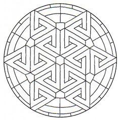 Geometric Coloring Pages, Mandala Coloring Pages, Adult Coloring Pages, Coloring Sheets, Mandala Triangle, Colouring Pics, Coloring Books, Graph Paper Art, Design Mandala