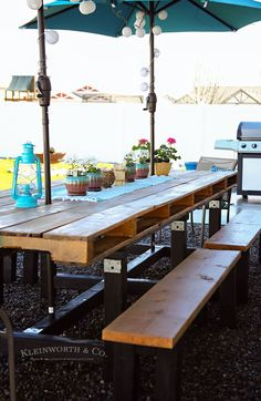 Pallet outdoor dining table free plans