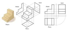 Orthographic Drawing, Orthographic Projection, Isometric Sketch, Isometric Drawing Exercises, Autocad, Architecture Foundation, Geometric Construction, Interesting Drawings, Perspective Art