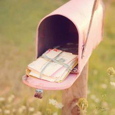 snail mail love #pink #mailbox