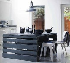 Hmmm... do I have enough pallets to make a dining table for the backyard??