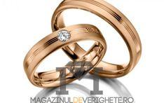 #verighete #aurroz model MDV 881 #aur #roz pentru o #nunta de vis! Aur, 50 Euro, Catholic, Gold Rings, Wedding Rings, Engagement Rings, Weddings, Model, Pink