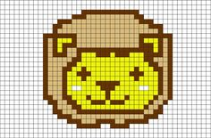 Lion Pixel Art from BrikBook.com #Lion #cute #animal #bigcat #wildlife #pixel…