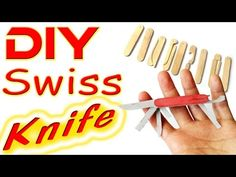 How to make Swiss Army knife out of  posicle sticks