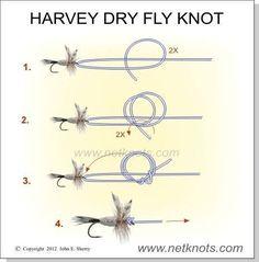 Harvey Dry Fly Knot #TheFineArtofFlyFishing