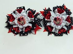 Lindos Moños para Niñas con listones colores de Minnie Mouse , How To Make A Hair Bow - YouTube