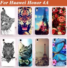 Huawei Honor 4 Huawei Y6 Case Phone Cover For Huawei Honor 4A Shell Back Case  Free Shipping Colorful Pattern Case DIY