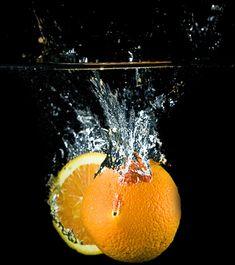 Split Orange Splash, Explored!  --Stunning Examples of High Speed Photography.--