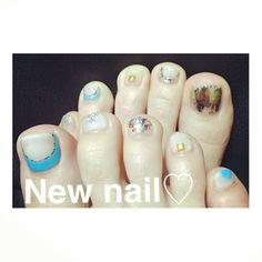 #nail #左右非対称 #footnail