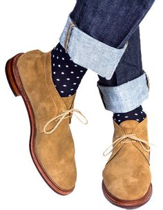 Dapper Classics Navy with Sky Blue Polka Dot Socks Polka Dot Socks, Blue Polka Dots, Sock Shoes, Men's Shoes, Shoes Men, Komplette Outfits, Colorful Socks, Dress Socks, Well Dressed Men