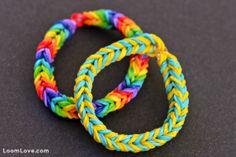 8 Easy Bracelets for Rainbow Loom Beginners Double Banded Fishtail #Easy