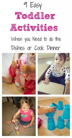 10 Easy Toddler Activities (that take little to no set up).
