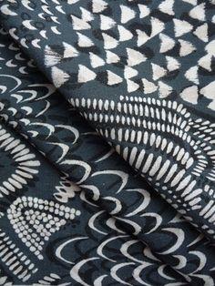Starling Fabric in gray by Imogen Heath