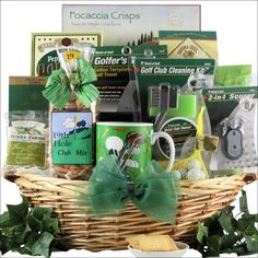 Gluten free vegan gift baskets christmas mothers day fathers golfers delight golf gift basket negle Image collections