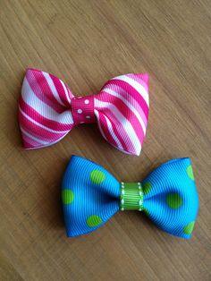 Grosgrain ribbon hairbow clips...
