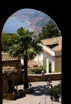 View of Giardini Naxos - Taormina, Sicily, Italy