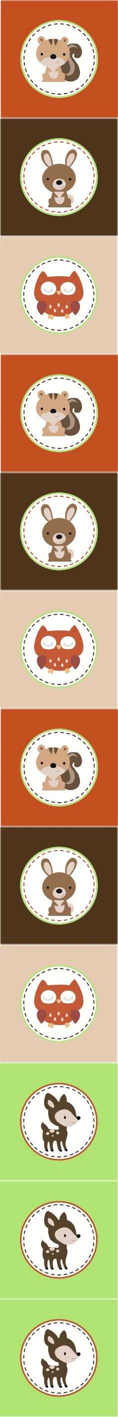 Woodland Party.  printable woodland circles
