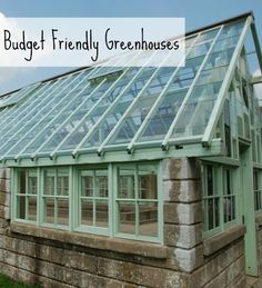 Friendly Greenhouses Need a greenhouse? It doesn't need to be fancy and expensive. Photo: jconnors / CC by a greenhouse? It doesn't need to be fancy and expensive. Greenhouse Shed, Small Greenhouse, Greenhouse Gardening, Greenhouse Wedding, Greenhouse Attached To House, Greenhouse Film, Outdoor Greenhouse, Greenhouse Growing, What Is A Conservatory