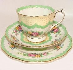 Royal Albert China - Series - Prudence- plain inside with lacey border