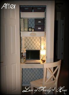 tiny closet office nook