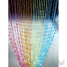 Beaded curtains for Angelika's closet!