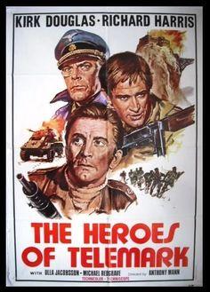 The Heroes of Telemark Kirk Douglas Original Lebanese Movie Poster 70s | eBay