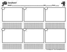 Love this idea to let kids demonstrate their knowledge. A simple storyboard form can be used to retell a story's main events, plan before writing a story, plan for a film, and much more. Print two sheets and copy back-to-back for longer stories. Writing Lesson Plans, Writing Lessons, Work On Writing, Creative Writing, Graphic Organisers, Storyboard Template, Narrative Story, Story Sequencing, Teacher Resources