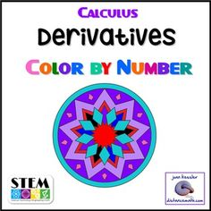 Calculus Derivatives Color by Number. This fun, engaging activity includes sixteen review questions on derivatives before the chain rule. The power rule, product rule, quotient rules, trig functions, and e^x are included as are applications such as tangent lines, and velocity.Students solve the problems, match the numerical answer to a color, and then color in the design, a Mandala.