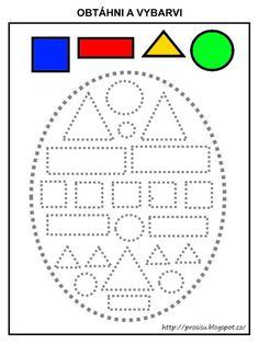 Free Preschool, Preschool Worksheets, Toddler Learning Activities, Preschool Activities, Easter Coloring Pages, Writing Skills, Pre School, Homeschool, Geometric Fashion