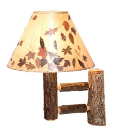 Hickory Wall Sconce - Single. Great idea. If someone figures out how to do this as a DIY project, please let me know. Thx.