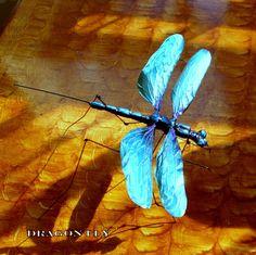 dragon fly metal sculpture