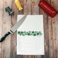 Pyrex Spring Blossom Tea Towel  Crazy Daisy Hand by GreenBeeKC