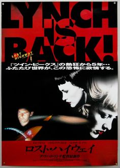 Japanese Lost Highway poster. David Lynch