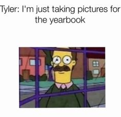 Tyler needs to stop and I feel like the next season if there is going to be a second season is going to be about Tyler killing everyone at school. 13 reasons why meme