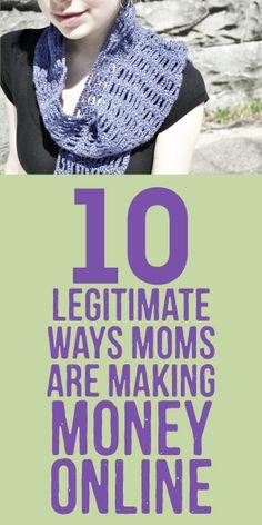 10 Legitimate Ways Moms Are Making Money Online! ways to make money, legitimate work at home jobs #makemoney #workathome