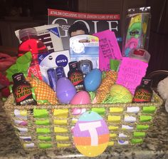 Intimate easter basket easter baskets and easter easter basket gift idea for him negle Choice Image