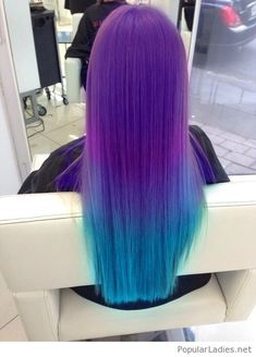 Purple and blue hair color