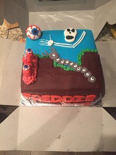 And another Terraria cake...I think Terraria was popular this year. LOL!!!