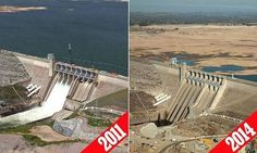 Stunning photo of CA's drought from @NASA & @KTVU - this is a pic of Folsom Lake: pic.twitter.com/VU5iRS11bo