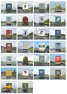 Alphabet Truck from FAT (A French American Trip) :: a collection of Google screen captures by Eric Tabuchi