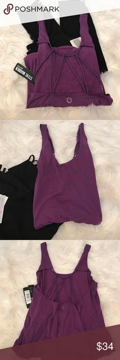 Flash Sale! Steve Madden Active Strappy Top Steve Madden Active Strappy Top.  Gorgeous violets and blue space dye details.  Soft & cozy, wear as an active Top or as a lounge top.  Pants sold separately. Steve Madden Tops Tank Tops