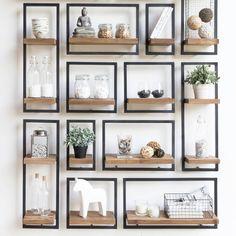 """956 Likes, 9 Comments - De Troubadour Interieurs (@detroubadourinterieurs) on Instagram: """"Stel je eigen wanddecoratie samen met Shelfmate. Combineer elementen in verschillende groottes voor…"""""""