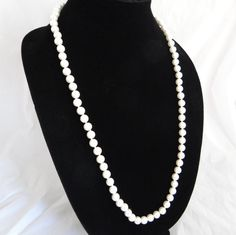 Vintage Faux White Pearl Necklace  Lovely by SecondWindShop, $9.50
